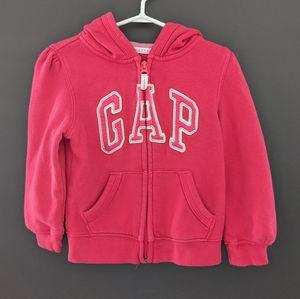Baby Gap bright pink zip up hoodie